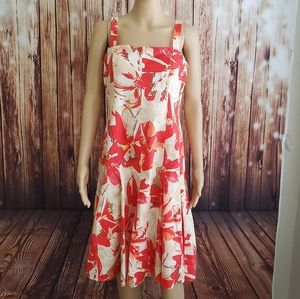 Madison Leigh Dress 12 Beige Floral